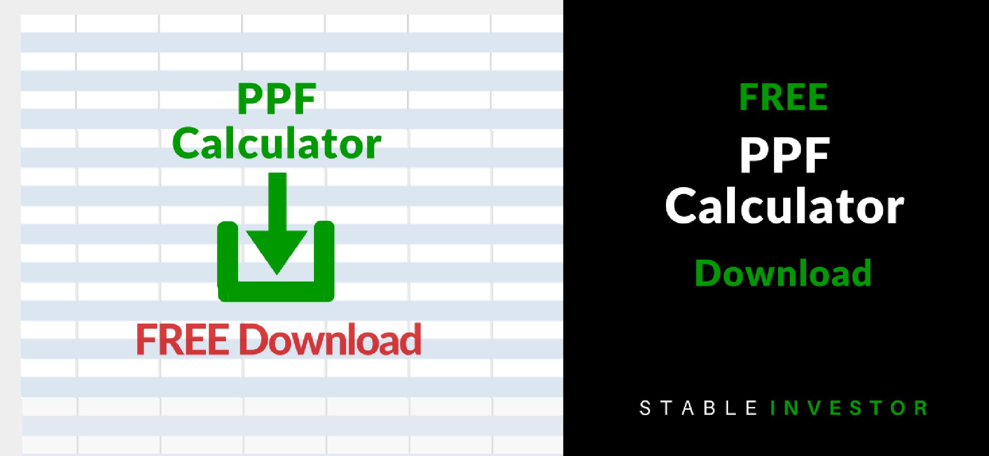 Ppf Calculator Excel Worksheet Download Stable Investor