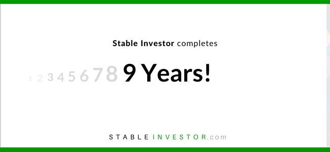 Stable investor anniversary 9 years