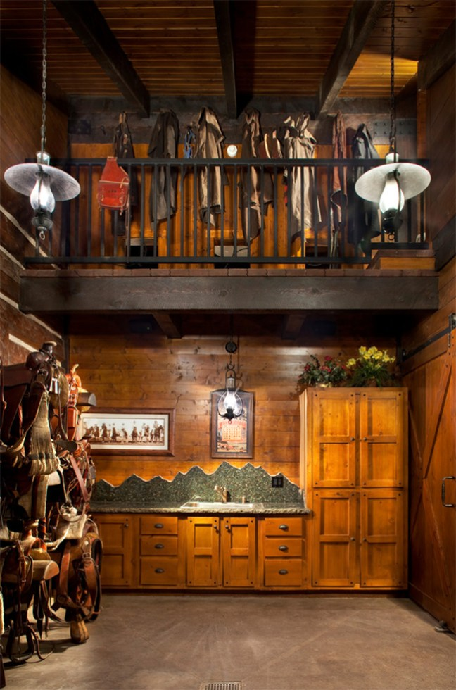 Two story western tack room