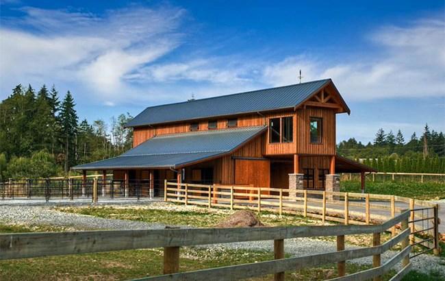 Rustic western barn