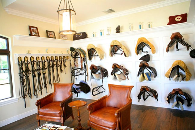 Tack room interior