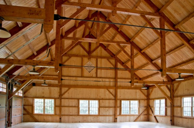 inside the upstairs of a bank barn