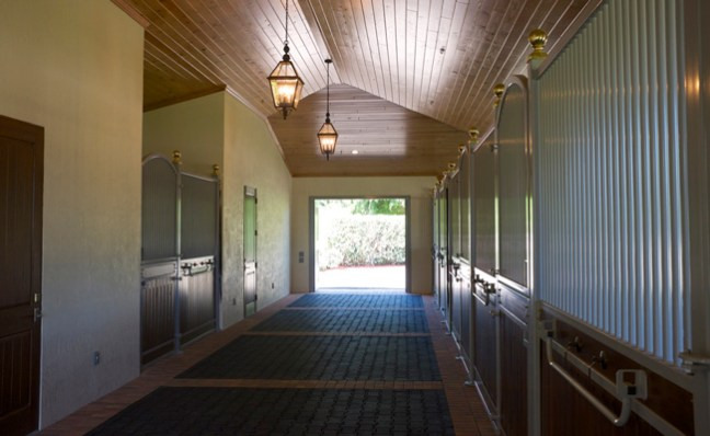 private six stall barn wing