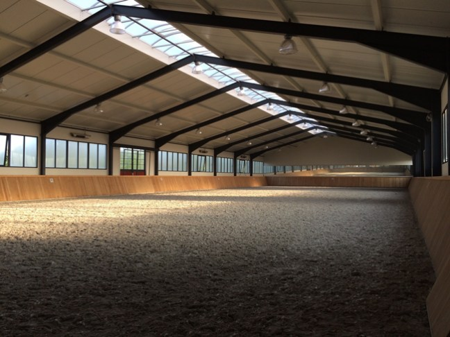 Stunning indoor riding arena