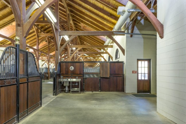 high ceilings and excellent natural light