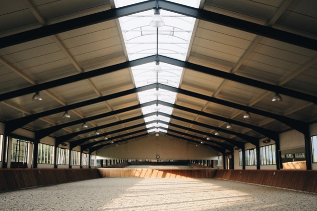 indoor riding arena at Westphalian Stables