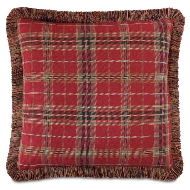 equestrian chestnut down throw pillow