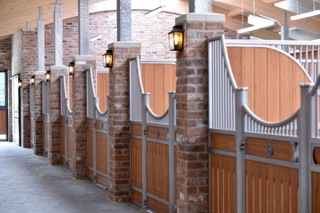 wide open stall fronts