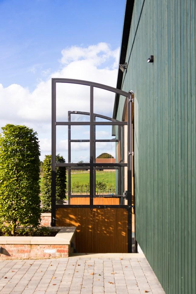 doors to the indoor riding arena
