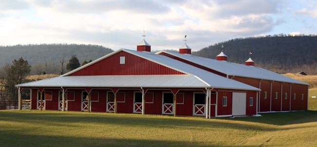 6 Beautiful Red Horse Barns Stable Style