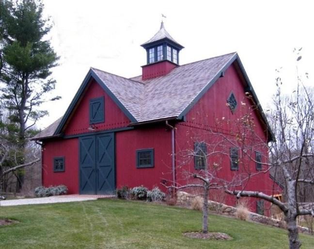 beautiful red bank barn