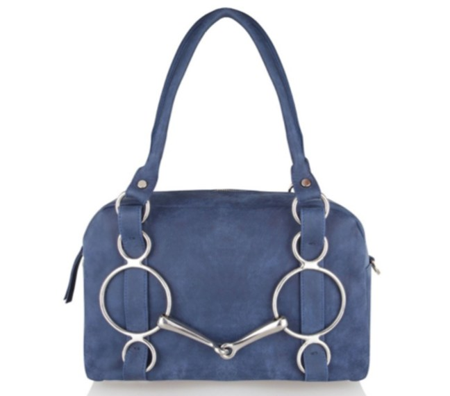 blue horse bit bag