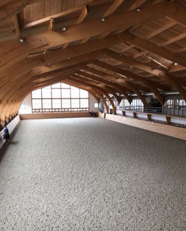 inside of the stunning riding arena