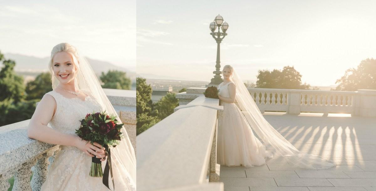 Alix Utah State Capitol Bridals Utah Wedding Photographer