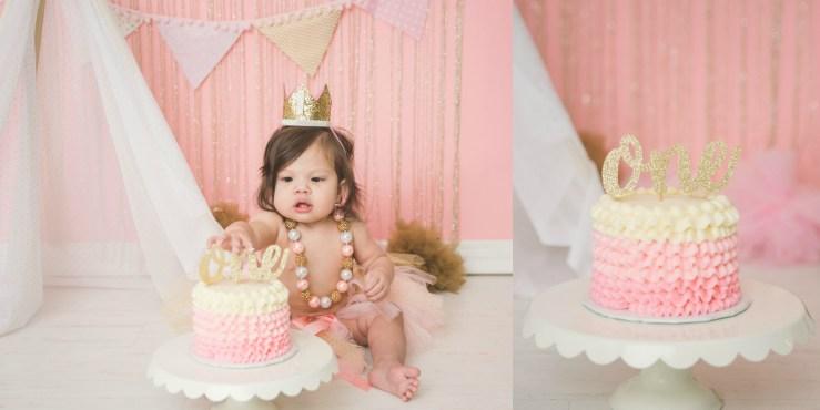 Fine Parrett Cake Smash Pink Gold Salt Lake City Utah Photographer Funny Birthday Cards Online Inifofree Goldxyz
