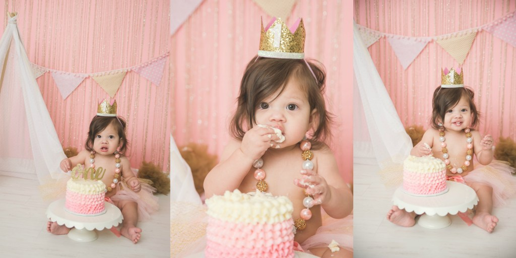 Parrett Cake Smash Pink Gold Salt Lake City Utah Photographer