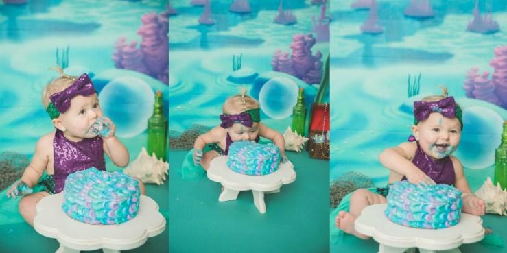 Clegg Mermaid Cake Smash Photographer Logan Utah