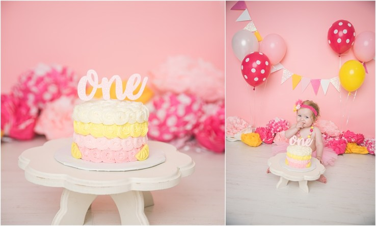 Maggie Lemonade Cake Smash Logan Utah Cake Smash Photographer