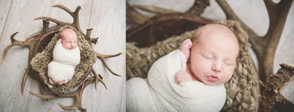 Coulam Antler Outdoor Utah Newborn Photographer