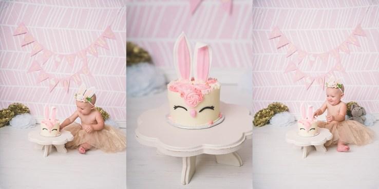 Some Bunny is One Utah Cake Smash Photographer