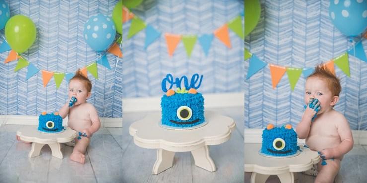 Monster Cake Smash Photographer Northern Utah