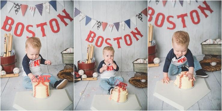 Boston Logan Utah Baseball Cake Smash Photographer