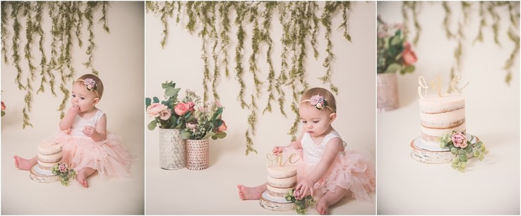 Floral Boho Cake Smash Logan Utah Photographer