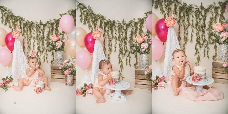 Floral Cake Smash Logan Utah Photographer