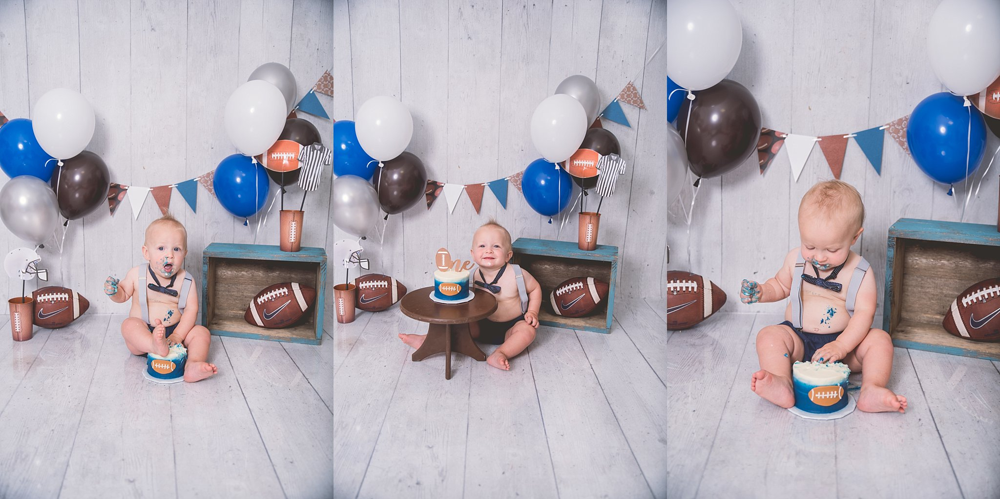 Football Cake Smash Logan Utah Photographer