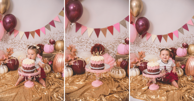 Pumpkin Cake Smash Logan Utah Photographer