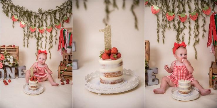 Logan Utah Cake Smash Photographer Strawberry
