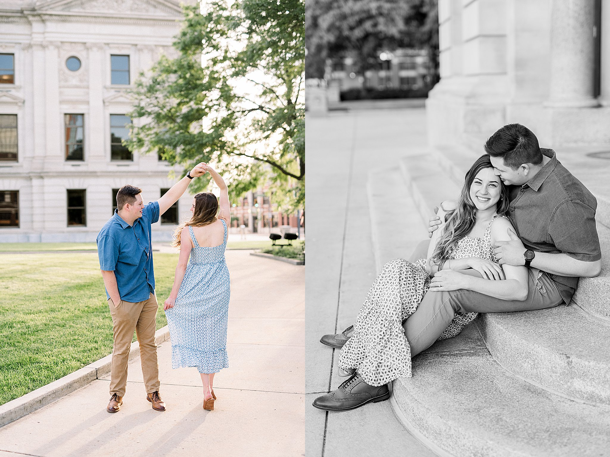Downtown Fort Wayne Engagement Session