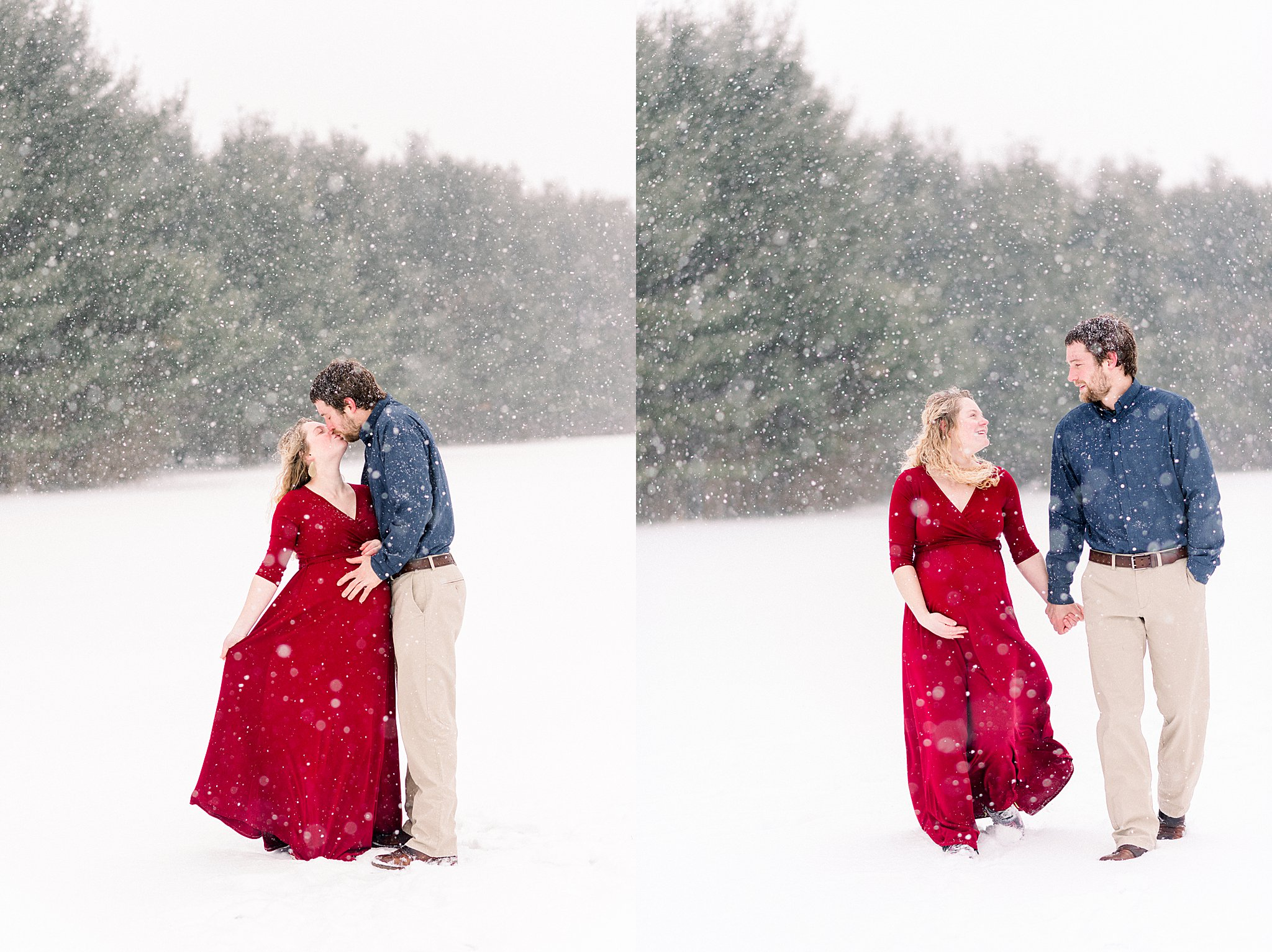 Snowy maternity session