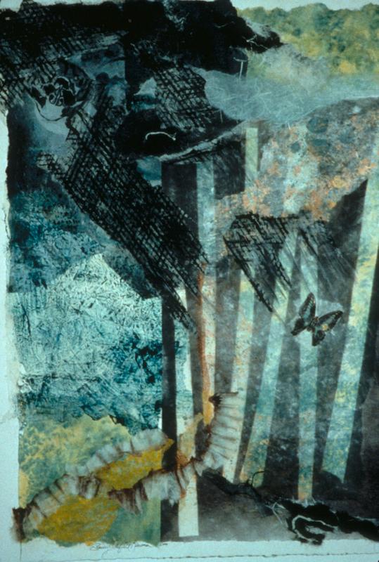 Acid Rain - 33x25 - Handpainted paper Collage