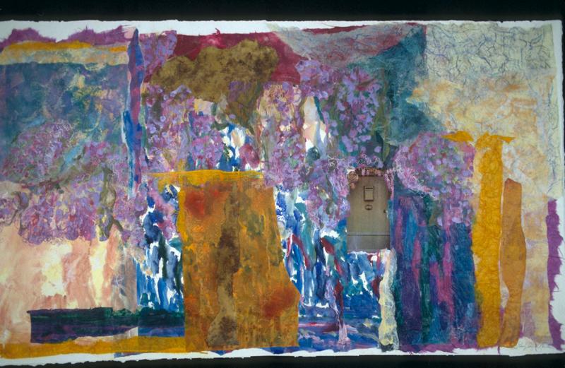 Le Jardin - 36x57 - Handpainted Paper Collage