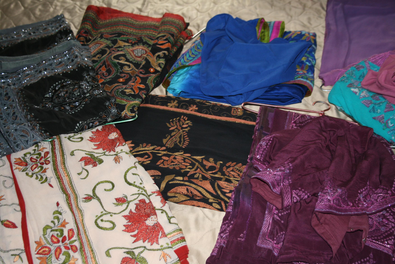 Saris, saris everywhere!
