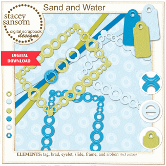 Sand and Water Digital Elements from Stacey Sansom Designs