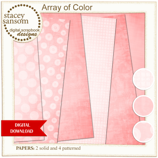 Array of Color Pink Paper Pack from Stacey Sansom Designs