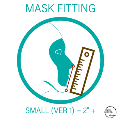 Mask Fitting - Small Fitted Face Mask | Stacey Sansom Designs