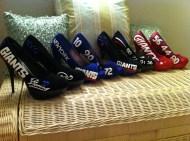 Custom NY Giants heels made by Tommy Terrifics