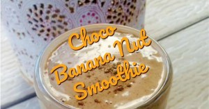 choco banana nut smoothie features