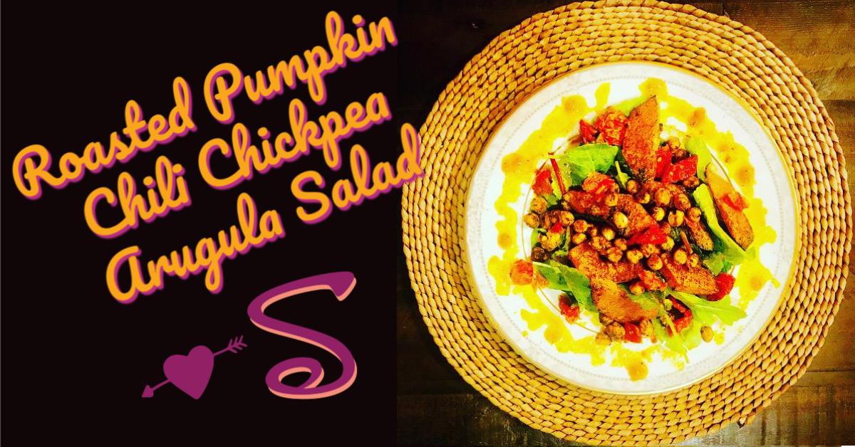 roasted pumpkin chili chickpea salad