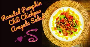 roasted pumpkin chili chickpea salad