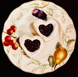 Vegan Linzer Heart Cookies