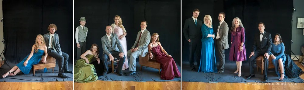 Vanity Fair Style family portrait, in studio, near Denver, Colorado