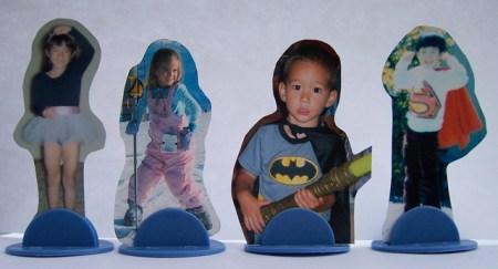 photo cutouts game pieces