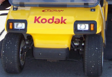 Kodak golf cart