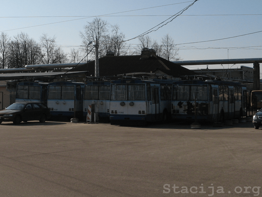 Škoda 14Tr Rīgas Pirmajā trolejbusu parkā.