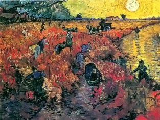 The Red Vineyard---Vincent van Gogh [Public domain], via Wikimedia Commons