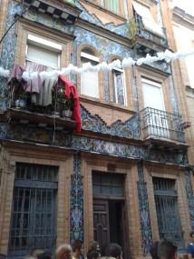 Pięknie przyozdobiony dom w dzielnicy Triana